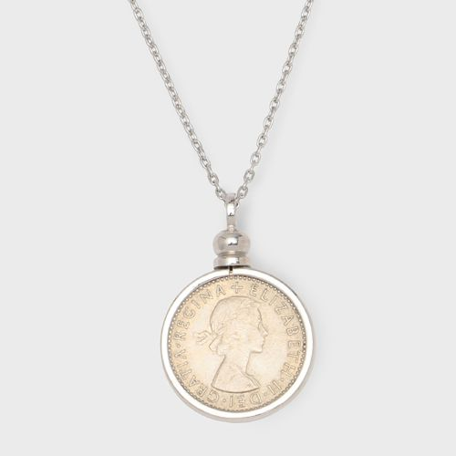 PORTADA SIXPENCE COIN NECKLACE【SILVER】