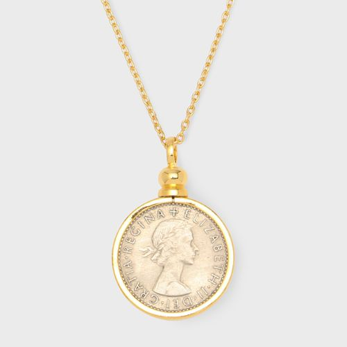 PORTADA SIXPENCE COIN NECKLACE【GOLD】