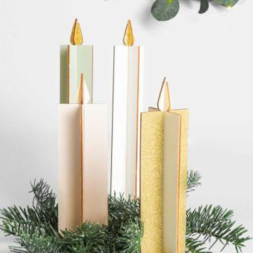 ASSEMBLED CANDLE, 2PCS