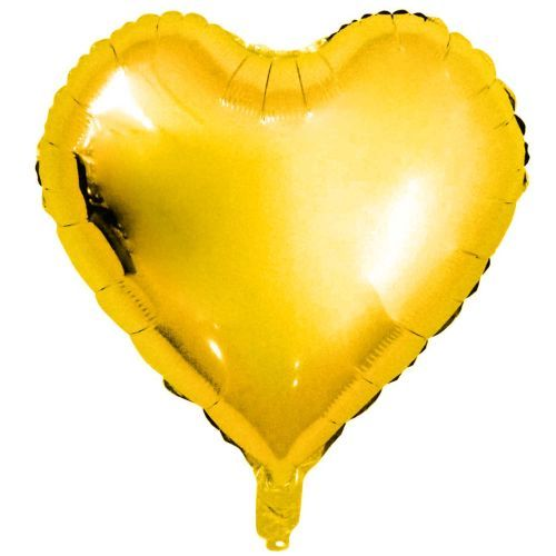 FOIL BALLOON HEART, GOLD