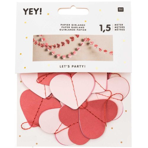 PAPER GARLAND, HEARTS