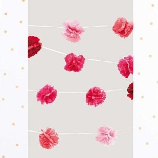 POMPON GARLANDS, PINK MIX