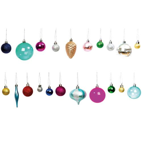 XMAS TREE BAUBLE MULTI COLOURS