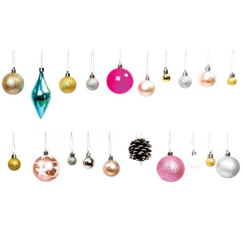 XMAS TREE BAUBLE PASTEL